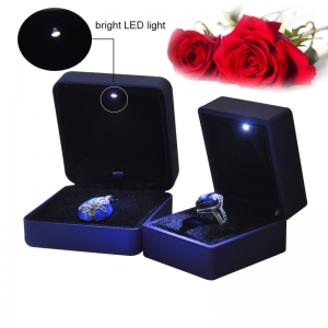 Fashion luxury jewelry ring box with LED Light made in China