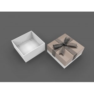 Fashion paper jewelry boxes for earring/pendant with drawstring made in China