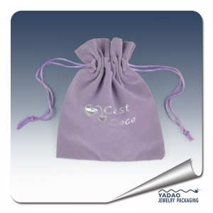 Fashion velvet pouches for jewelry as gift pouch