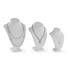 Fashion white necklace display resin necklace display busts difference size necklace display rack made in China