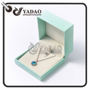 Fashionable mint plastic pendant box other colors such as pink and grey, etc. are also available.