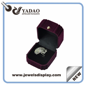 Flocking jewelry box packaging box for ring display purple ring packaging box