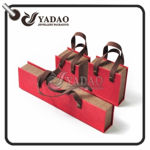 For kid's Jewelry---Cute bag shape paper box for jewelry package with customized logo and free logo printing