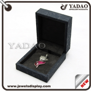 Good quality gray velvet jewelry box for ring pendant necklace etc. made in China