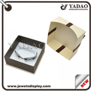 Good quality paper jewelry display box with ribbon