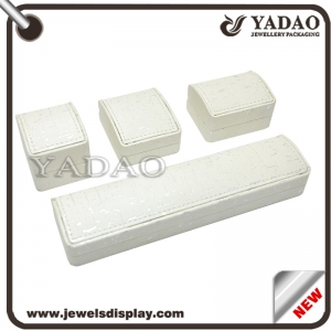 Good quality plastic leather jewelry box for ring necklace pendant etc. made in China