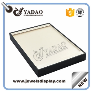 Good quantity leather covered wooden for necklace tray made in China