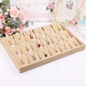 Handmade Beautiful and elegant with linen jewelry display trays wholesale for jewelry wholesale
