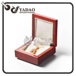 Handmade customized wooden necklace box luxury pendant package made by Yadao.
