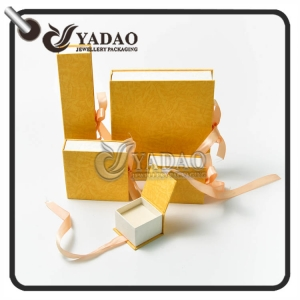 Handmade paper jewelry box set suitable for ring earing necklace bangle and bracelet package printed with your logo.