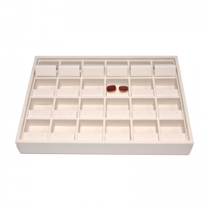 High Quality Hollow Design Stackable Leather Material Jewelry Earring Tray