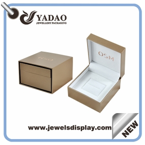 High class leather plastic jewelry box for ring box from China