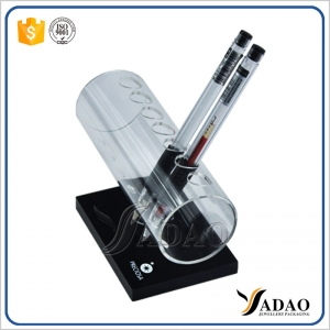 High end customized white with black acrylic pen display stand made in China