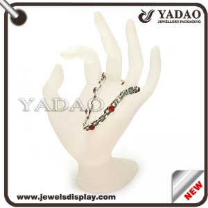 High quality China supplier acrylic ring display stand hand shape
