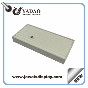 High quality Linen white foam strip jewelry display tray for ring display China maufacturer