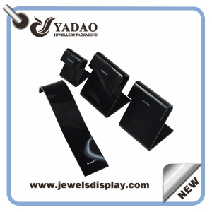 High quality hot selling glossy black acrylic earring display stand have kind of color made in China