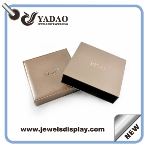 High quality leather jewelry plastic box with your logo from China