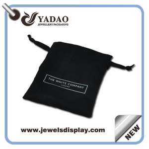 High quality reuseable jewelry pouch bags,wholesale packaging pouch bag with screen printing logo