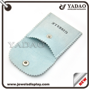 High quality velvet jewelry pouch bag with logo made in China