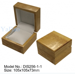 Hot sale elegant lacquered wooden soft pillow inside watch box packaging