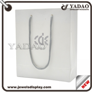 Hot selling paper jewelry shopping bag with drawstring made in China