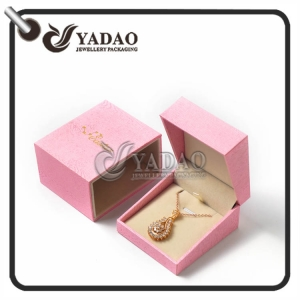 JCK HOT SELLING customized plastic necklace box with paper sleeve with free logo printing.