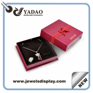 Jewelry Packaging Box Beautiful high end Paper Jewelry Gift Box and custome logo in factory price