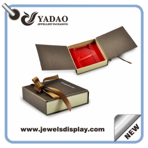 Paper box jewelry display packaging box china jewelry for High end client gifts