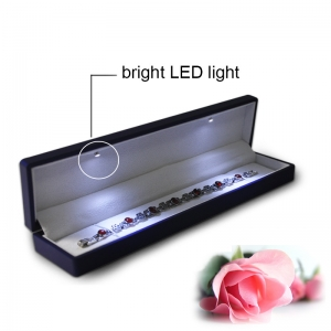 LED bright light jewelry box for necklace good quality necklace box
