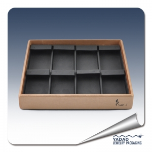Leatherette 8 pairs Earring display tray