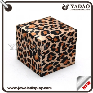 Leopard print custom made jewellery boxes