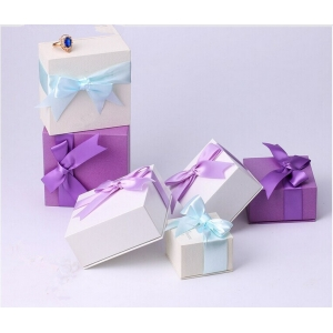 Luxury Handmade Bespoke Jewellery Boxes & Necklace Ring Bracelet Box & Jewelry Box folding paper jewelry box with ribbon