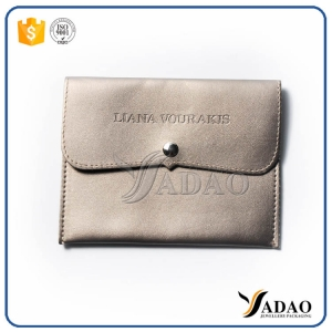 Make Your Jewlry Perfect -Customize OEM ODM low price whole sale gift smooth leather pouch jewelry packag bag with free logo