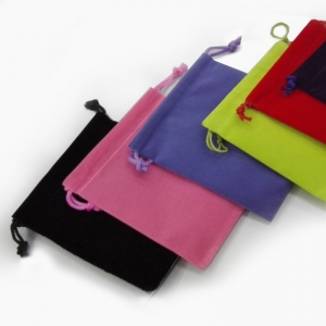 Most popular high quality jewelry velvet pouch have kind of color in stock