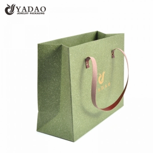 Natural customized handmade factory price shopping bag for jewelry gift