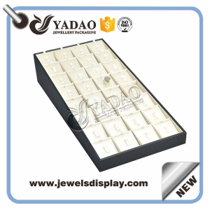 New arrival custom handmade pu leather cover jewelry display ring display China supplier Yadao