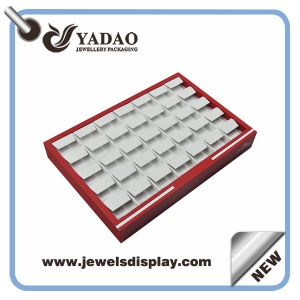New arrival rose red stackable earring display tray for jewelry display,earring presentation tray