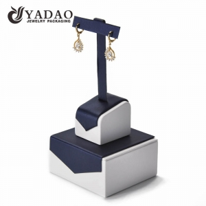 New design---Leatherette earring display stand with T-bar suitable for stud and long earring.