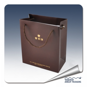 New design jewelry shopping bag paper bag for jewelry is very good quality made in China