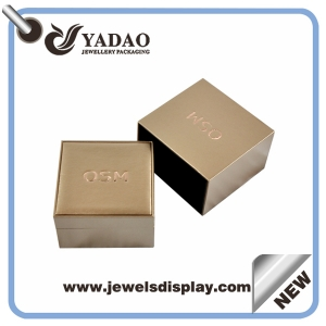 Newest design for Christmas custom  leather ring jewelry boxes ,ring jewelry cheats , plastic ring jewelry cases with slot with your own logo  wholesale made in China