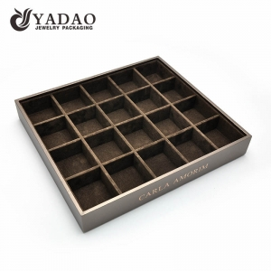 Nicety adurable experienced workmanship MOQ wholesale with fair best price mdf leather suede jewelry displays trays/tray sets