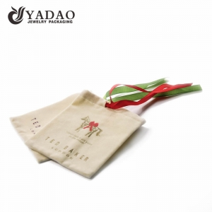 OEM/ODM soft velvet gift pouch with drawstring and logo printing suitable for packaging gift, candle or jewelry.