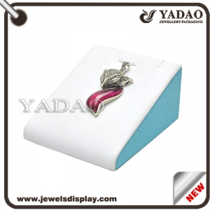OEM leather white jewelry display stand for pandent display stand