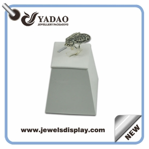 PU leather jewelry display ring stand