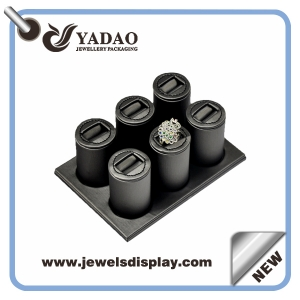 PU leatherette jewelry ring display for jewelry fair or jewelry store China Supplier