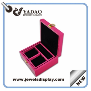 Pink wooden jewelry container boxes,jewelry packing boxes ,jewelry storage boxes for jewelry shop and home decorating wholesale