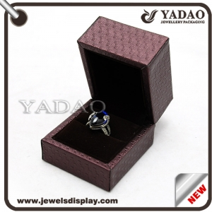 Popular customizable jewelry leatherette plastic display box with obvious beautiful lines and logo printed