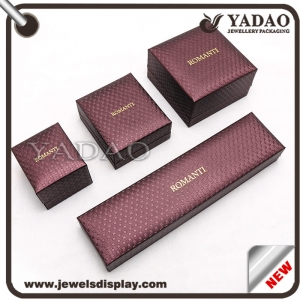 Popular customizable jewelry plastic display box with obvious beautiful lines
