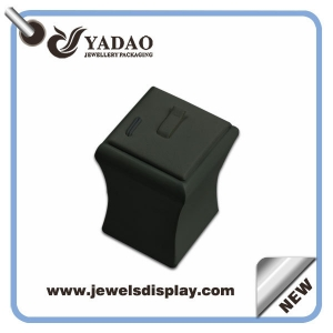Promotional Custom leather jewellery  counter displays used  for jewelry tradeshow and exhibitions ring showcase stand