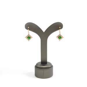 Pu Leather Cover Earrings Display Stand